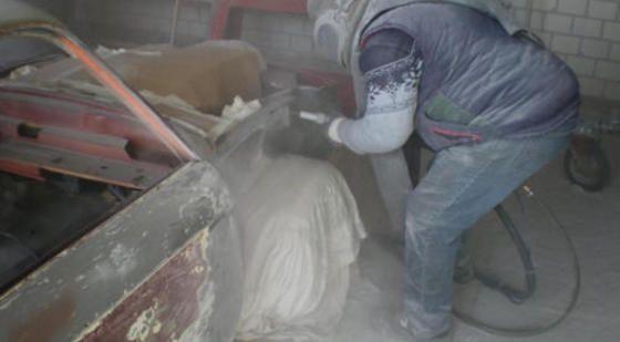 Sandstrahlarbeiten
